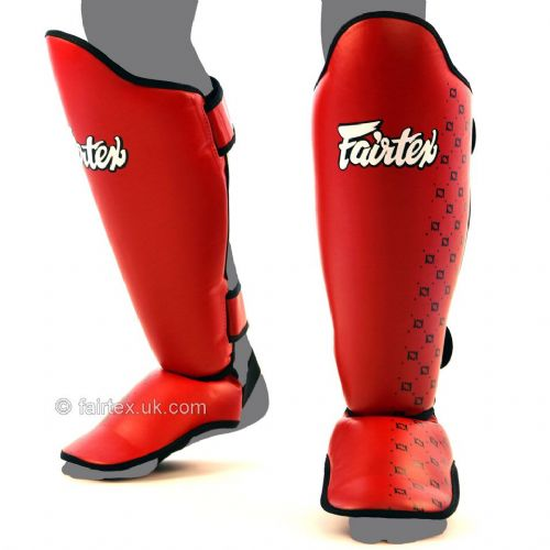 Fairtex SP5 Shin Guards - Red
